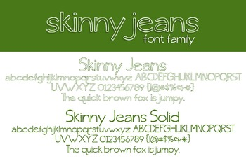 Skinny Jeans Font Family for Commercial Use