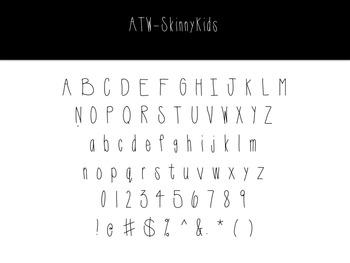 Skinny Kids Font- A Teacher's Wonderland