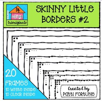 Skinny Little Borders #2 {P4 Clips Trioriginals Digital Clip Art}