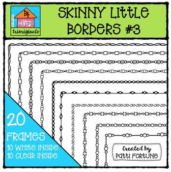 Skinny Little Borders #3 {P4 Clips Trioriginals Digital Clip Art}