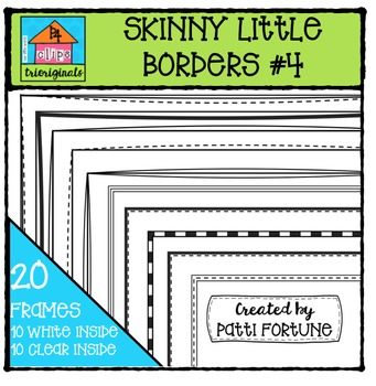 Skinny Little Borders #4 {P4 Clips Trioriginals Digital Clip Art}
