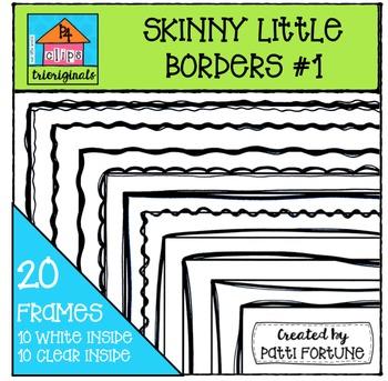 Skinny Little Borders #1 {P4 Clips Trioriginals Digital Clip Art}