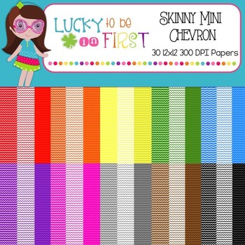 Skinny Mini Chevron {12x12 Digital Paper}