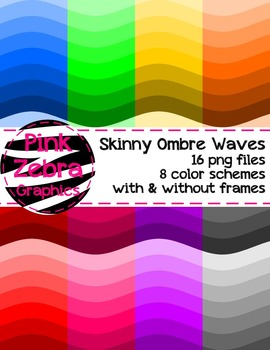 Skinny Ombre Waves Backgrounds