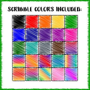 Skinny Scribble Frames - 27 PACK