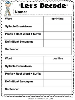 Skinnybones 2nd Grade ELA CCPGS Unit 4 - WORKSHEETS