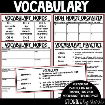 Skinnybones Book Questions & Vocabulary