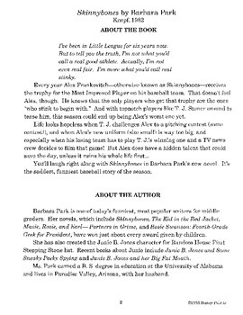 Skinnybones Literature Guide