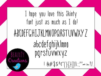 """""""Skinty"""" Font by BeauxTy Creations"""