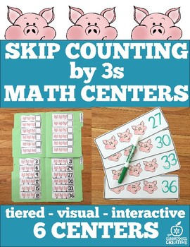 Skip Counting by 3s: Differentiated Math Centers, File Folder Math Games, Arrays
