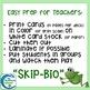 Invertebrate Taxonomy Skip-Bio Card Game