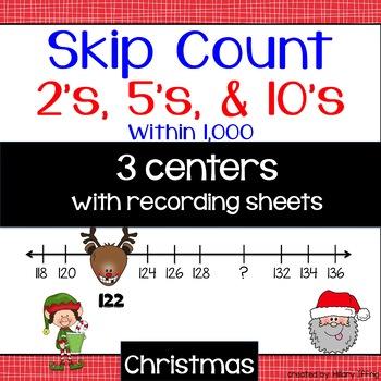 Skip Count 2's, 5's & 10's: Christmas Theme