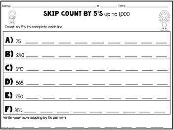 Skip Count 2's, 5's & 10's: Thanksgiving Theme