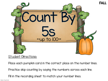 Skip Count 5's & 10's:  Fall Theme