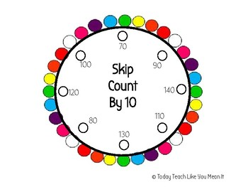 Skip Count By 10's Lacing Circle