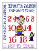 Math Skip Counting By 2 Flip book - Easel Digital Activities