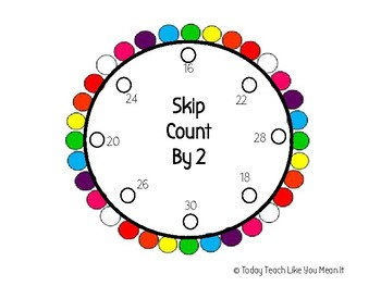 Skip Count By 2's Lacing Circle