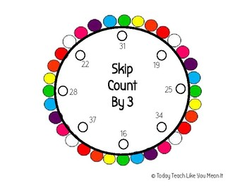 Skip Count By 3's Lacing Circle