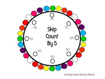 Skip Count By 5's Lacing Circle