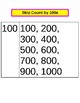 Skip Count Handouts by 5s, 10s, and 100s