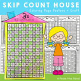 Skip Count House {Printable Coloring Posters + Craft}