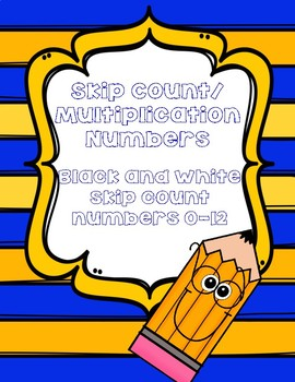 Skip Count/ Multiplication Number Posters
