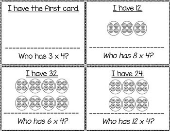 Multiply & Skip Count By 4