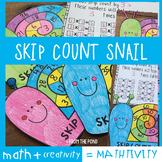 Skip Counting Math Craft Snail