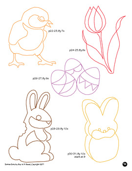 Skip Count by 1, 2, 3, 4, 5, 6, 7, 8, 9, 10, Easter Dot to Dot Bundle