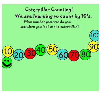 Skip Count by 10's Caterpillar SMARTboard