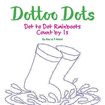 Skip Count by 1s, Dot to Dot Spring Rainboots Math Activity
