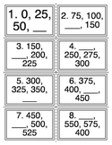 Skip Count by 25 Task Cards