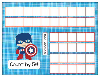Skip Count by 2s 5s 10s 100s File Folder Practice Mats