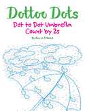Skip Count by 2s, Dot to Dot Spring Umbrella Math Activity