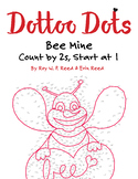 Skip Count by 2s, Start at 1, Dot to Dot Bee Mine Valentine Math Activity