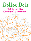 Skip Count by 2s, Start at 1, Dot to Dot Spring Sun Math Activity