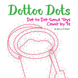 Skip Count by 3s, Dot to Dot Sand Toys Summer Math Activity