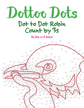 Skip Count by 3s, Dot to Dot Spring Robin Math Activity