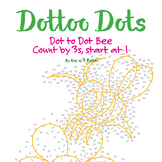 Skip Count by 3s, Start at 1, Dot to Dot Spring Bee Math Activity