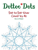Skip Count by 4s Dot to Dot Christmas Star Math Activity