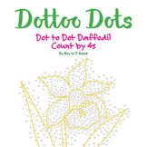 Skip Count by 4s, Dot to Dot Spring Daffodil, Math Activity