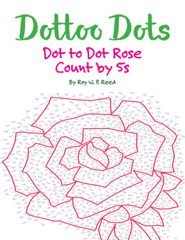 Skip Count by 5s, Dot to Dot Spring Rose Math Activity
