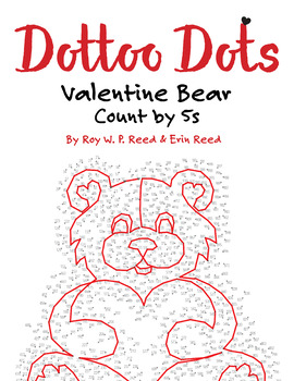 Skip Count by 5s, Dot to Dot Valentine Bear, Math Activity