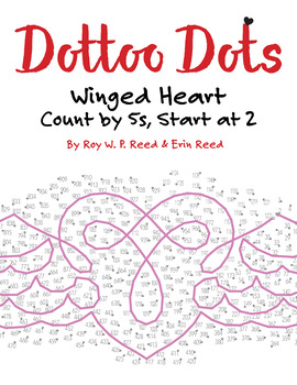 Skip Count by 5s, Start at 2, Dot to Dot Winged Heart, Math Activity