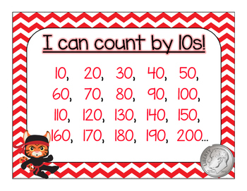 Skip Count by 5s and 10s Anchor Charts - FREEBIE