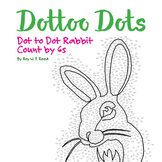 Skip Count by 6s, Dot to Dot Spring Rabbit Math Activity