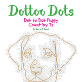 Skip Count by 7s, Dot to Dot Puppy, Math Activity