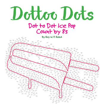Skip Count by 8s, Dot to Dot Popsicle-Style Ice Pop, Math Activity
