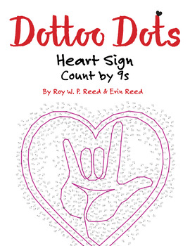 Skip Count by 9s, Dot to Dot Valentine Heart Sign, Math Activity