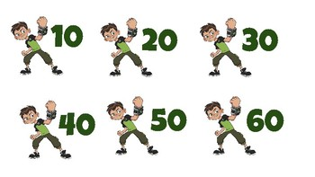 """Skip Count by """"Ben 10""""s to 200"""